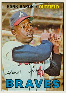 1967 Topps Hank Aaron #250 Baseball Card