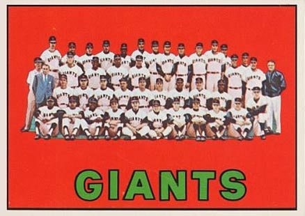 1967 Topps San Francisco Giants Team #516 Baseball Card