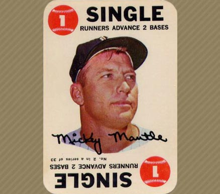 1968 Topps Game Mickey Mantle #2 Baseball Card