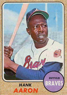 1968 Topps Hank Aaron #110 Baseball Card