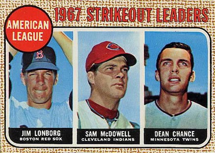 1968 Topps Dean Chance #12 Baseball Card
