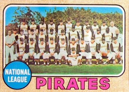 1968 Topps Pittsburgh Pirates Team #308 Baseball Card