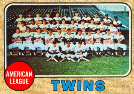 1968 Topps Minnesota Twins Team #137 Baseball Card
