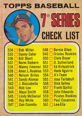 1968 Topps Clete Boyer #518Maj Baseball Card