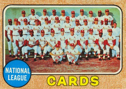 1968 Topps St. Louis Cardinals Team #497 Baseball Card