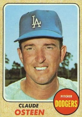 1968 Topps Claude Osteen #440 Baseball Card