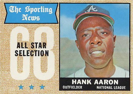 1968 Topps Hank Aaron #370 Baseball Card