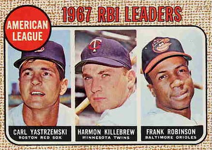 1968 Topps A.L. RBI Leaders #4 Baseball Card