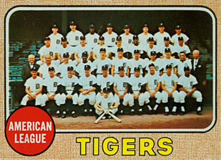 1968 Topps Detroit Tigers 528 Baseball Vcp Price Guide