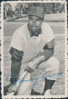 1969 Topps Deckle Edge Tommy Davis #15 Baseball Card