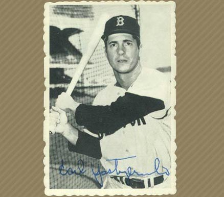 1969 Topps Deckle Edge Carl Yastrzemski #4 Baseball Card