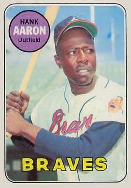 1969 Topps Hank Aaron #100 Baseball Card