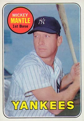 1969 Topps Mickey Mantle #500-y Baseball Card