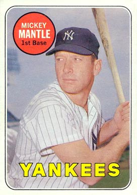 1969 Topps Mickey Mantle #500-w Baseball Card