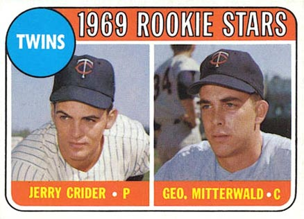 1969 Topps Twins Rookies #491y Baseball Card