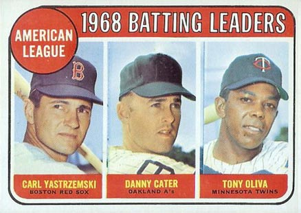 1969 Topps Danny Cater #1 Baseball Card