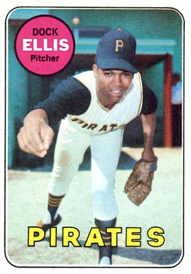 1969 Topps Dock Ellis #286 Baseball Card