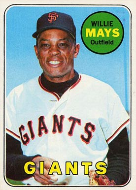 1969 Topps Willie Mays #190 Baseball Card