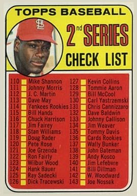1969 Topps Bob Gibson #107-jim Baseball Card