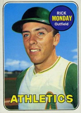 1969 Topps Rick Monday #105 Baseball Card