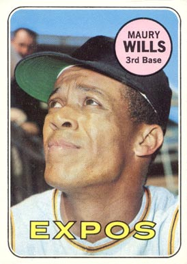 1969 Topps Maury Wills #45 Baseball Card