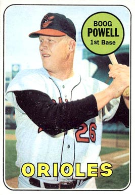 1969 Topps Boog Powell #15 Baseball Card