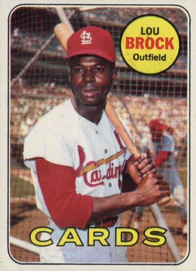 1969 Topps Lou Brock #85 Baseball Card