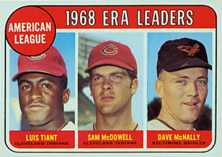 1969 Topps A.L. E.R.A. Leaders #7 Baseball Card