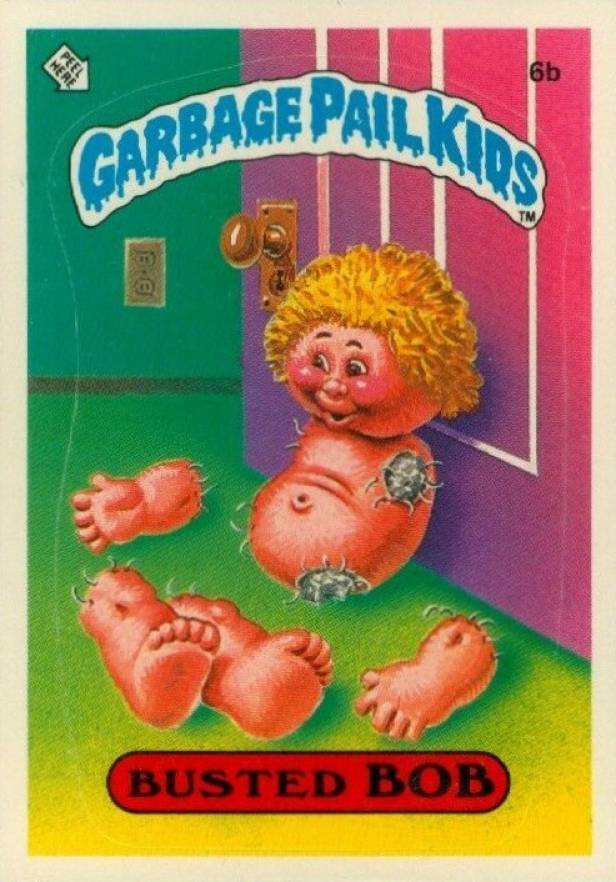 1985 Garbage Pail Kids Stickers Glossy Busted Bob #6b Non-Sports Card