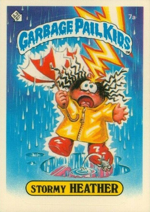 1985 Garbage Pail Kids Stickers Glossy Stormy Heather #7a Non-Sports Card