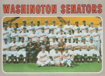 1970 Topps Washington Senators Team #676 Baseball Card
