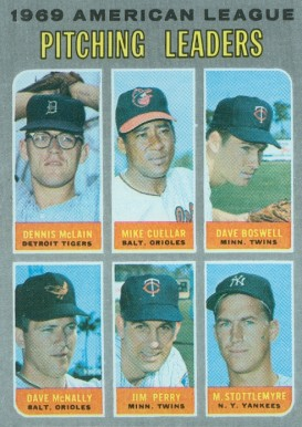 1970 Topps A.L. Pitching Leaders #70 Baseball Card