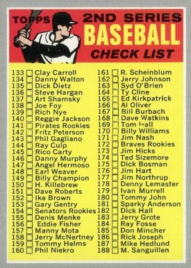 1970 Topps 2nd Series Checklist 133-263 #128-R Baseball Card