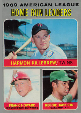 1970 Topps A.L. HR Leaders #66 Baseball Card