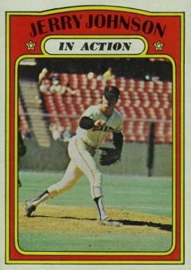 1972 Topps Jerry Johnson #36 Baseball Card