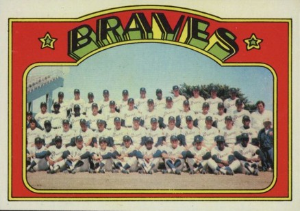 1972 Topps Braves Team #21 Baseball Card