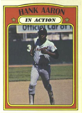 1972 Topps Hank Aaron #300 Baseball Card