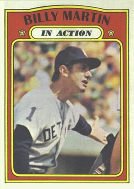 1972 Topps Billy Martin #34 Baseball Card
