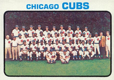 1973 Topps Chicago Cubs Team #464 Baseball Card