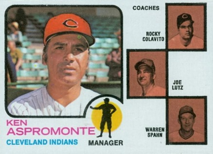 1973 Topps Indians Manager/Coaches #449-round Baseball Card