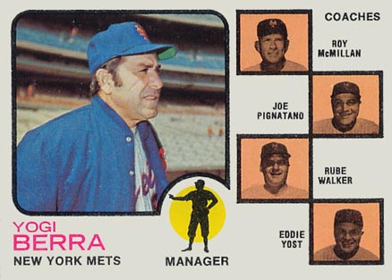 1973 Topps Mets Manager/ Coaches #257o Baseball Card