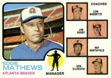 1973 Topps Braves Manager/Coaches #237-orng Baseball Card