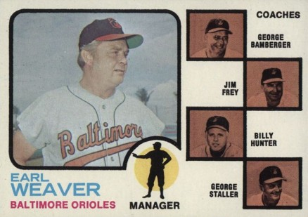 1973 Topps Orioles Manager/Coaches #136-brwn Baseball Card