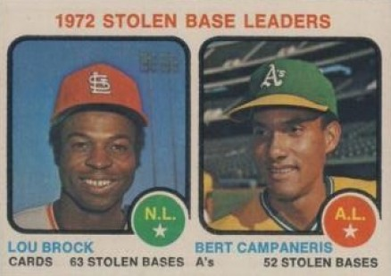 1973 Topps Stolen Base Leaders #64 Baseball Card