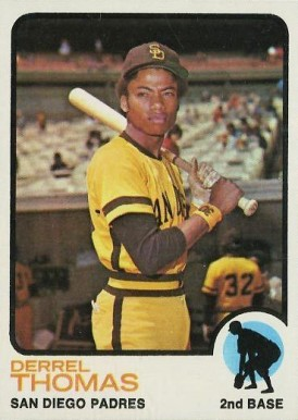1973 Topps Derrel Thomas #57 Baseball Card