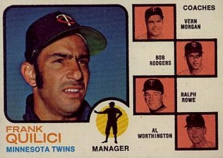 1973 Topps Twins Manager/Coaches #49-orng Baseball Card