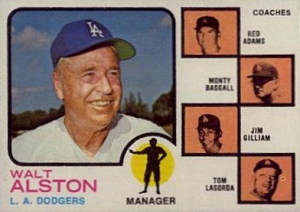 1973 Topps Dodgers Manager/Coaches #569 Baseball Card