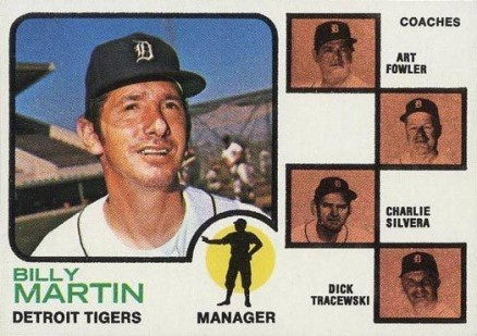1973 Topps Tigers Manager/ Coaches #323 Baseball Card