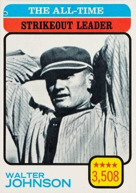 1973 Topps All Time Strikeout Leader #478 Baseball Card