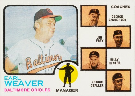 1973 Topps Orioles Manager/Coaches #136-orng Baseball Card